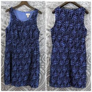 Ann Taylor LOFT velvet blue dress size 16
